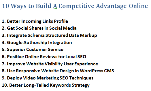 Ways to build a niche competitive advantage online.